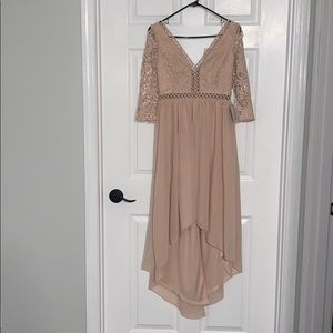 Lulus Blush High Low Dress with Tags
